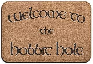 YGUII Welcome to The Hobbit Hole Welcome Door Mat Entrance Mat Floor Mat Rug Indoor/Outdoor/Front Door/Bathroom/Kitchen Mats Rubber Super Absorbent Non Slip 24x16x1.2inch-Clause