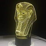 Klassische ägyptische Pharao Form Illusion Nachtlicht Farbe Tischlampe