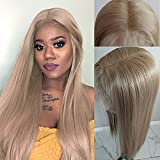 Lovigs Hair 13x6 Lace Front Wigs Heat Resistant Kanekalon Fiber Synthetic Hair Real Natural Straight Wigs for Women - 100% Stylish Blond Wigs(Color 103# Blonde 22 Inch 250% Density)