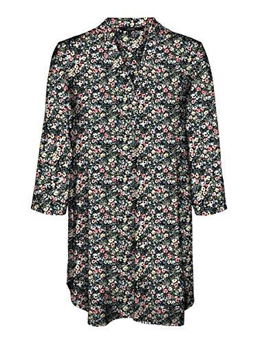 Vero Moda Damen VMSIMPLY EASY 3/4 TUNIC TOP WVN GA Tunika-Shirt, Schwarz, S