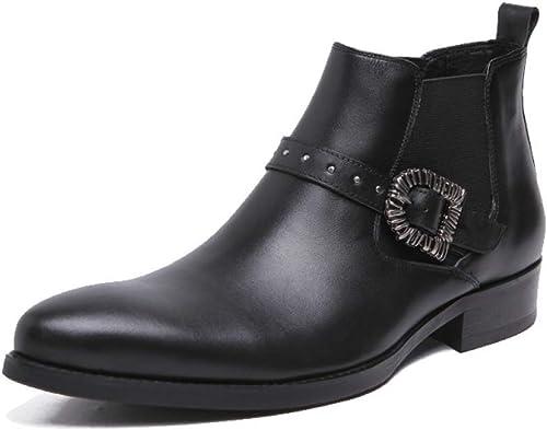 YCGCM botas Individuales para Hombre, zapatos Altos, Versión Europea Y Americana, Ambiente, Tendencia, Personalidad.