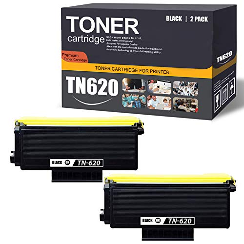 TN620 2 Pack(Black) Compatible TN620 Toner Cartridge Replacement for Brother MFC-8860DN 8870DW 8880DN 8890DW HL-5250DN/DNT 5270DN 5280DW 5350DN/DNLT DCP-8060 8085DN 8080DN Printer Toner Cartridge