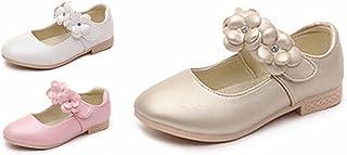 [チェリーレッド] 子供靴 女の子 ドレスシューズ お花 3色 無地