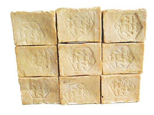 Jabón de Alepo – 20 unidades – Jabón de oliva de Alepo 85% aceite de oliva 15% puro aceite de laurel – 20 unidades de 190 gramos