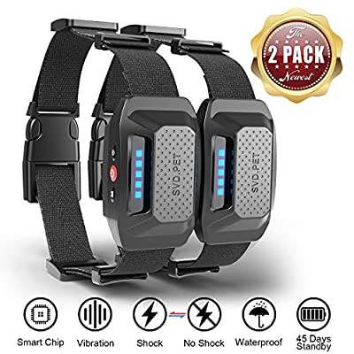 HELLKOPF Bark Collar - 2 Pack Dog Bark Collar for Small/Medium/Large Dogs, Rechargeable Dog Collar with No Harm Shock or Vibration Mode. Effective Anti Bark Device-Waterproof, No Remote…