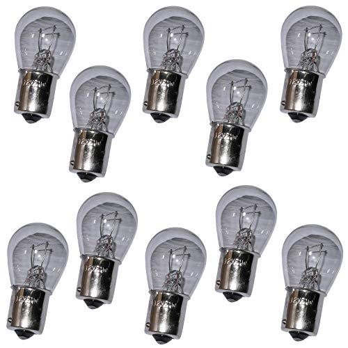 AERZETIX: Lot de 10 Ampoules 12V P21W BA15S pour Auto Voiture Utilitaire