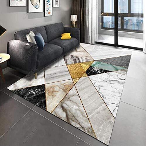 TANGYUAN matta platta tofflor inspiration med geometriska mönster – arbetsrum ej gjuten dekorativ matta marmor mönster sömmar halkfri tjock matta – 160 x 230 cm