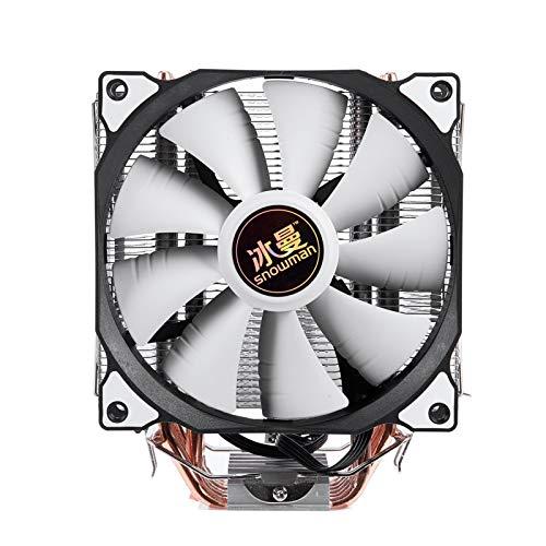 NINGXUE-MAOY 4Pin CPU Cooler 6 Tubo De Calefacción Un Solo Ventilador De Refrigeración 12 Cm Ventilador LGA775 1151 115X 1366 Soporte Intel AMD