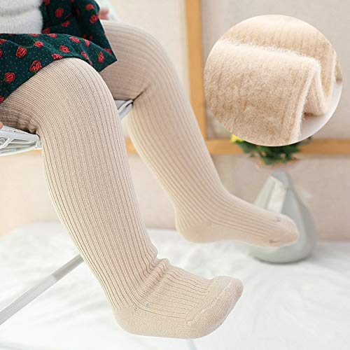 SanQing LOVE Les Filles d'hiver Doux Pantalons Collant Tight Knit bébé Leggings Couleur Chaude Chaussettes Longues pour Nourrissons Chaussettes Enfant en Bas âge Convient pour 0-10 Ans Filles,Flesh,M