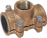 GEBO Anbohrschelle aus Messing 22mm x 1-2'' nach DIN 1786 für Wasser PN 10 bis 90°C