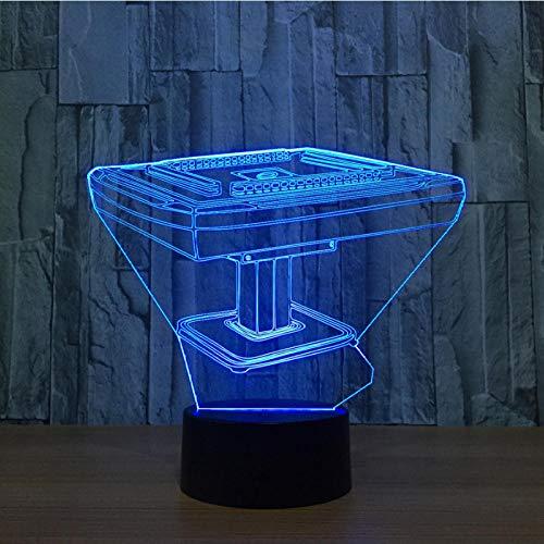 vvff Mahjong Game Desk 3D Nachtlicht Usb Led 7 Farben Wechsellampe Touch Switch Dekorative Lumineuse Nachttischlampe Spielzeug