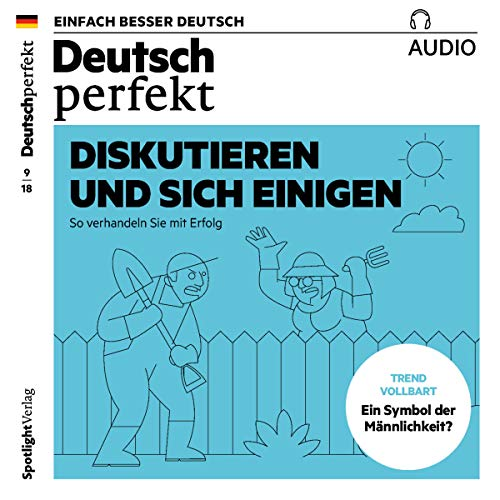 Deutsch perfekt Audio. 9/2018     Deutsch lernen Audio - Diskutieren und sich einigen              By:                                                                                                                                 div.                               Narrated by:                                                                                                                                 div.                      Length: 1 hr     Not rated yet     Overall 0.0