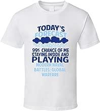 Todays Forecast Playing Modern Naval Battles Global Warfare T Shirt