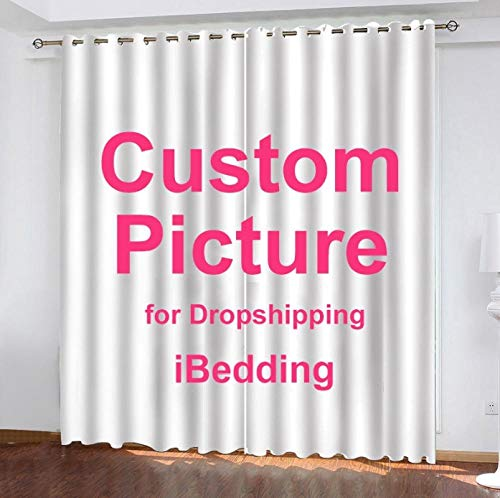 YCMXMY Personalized Photo Curtain Your Image Blackout Curtains, Make Your Own Private Custom Photo Decoration Engrave Your Memory, H215Xw260Cm|85X102In