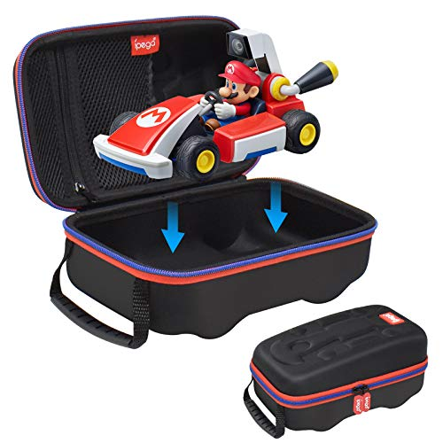 Carrying Case for Nintendo Switch Mario Kart Live: Home Circuit - Protective Hard Shell Kart Carry Case, Portable Storage Pouch Travel Bag Game Accessories Compatible with Mario Kart Live Home Circuit