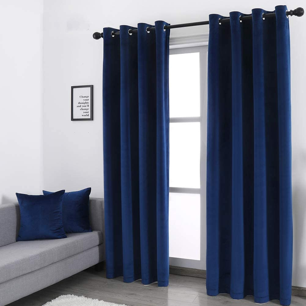 2021 WdFour Super Soft Luxury Velvet Curtain Pillow 2 Cases with Industry No. 1 Ener