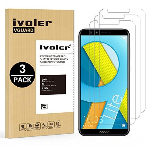 iVoler [3 Pack] Pellicola Vetro Temperato per Huawei Honor 9 Lite, Pellicola Protettiva Protezione per Schermo per Honor 9 Lite - Transparente