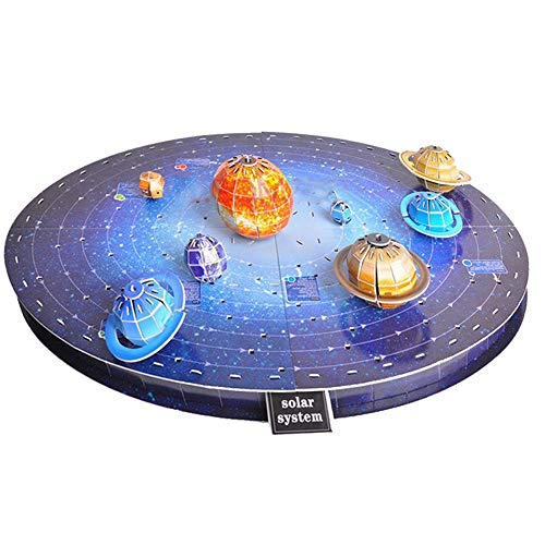 DRAKE18 3D Puzzle solar System acht Planeten DIY montiert Stereo Planet satelliten handgemachtes Display Modell