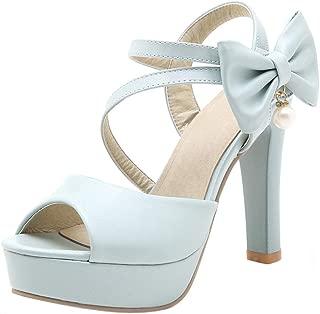 FANIMILA Women Fashion Summer Shoes Block Heels