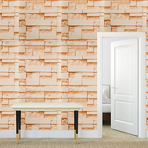YWLINK 3D Wall Paper Brick Stone Efecto RúStico Autoadhesivo ...