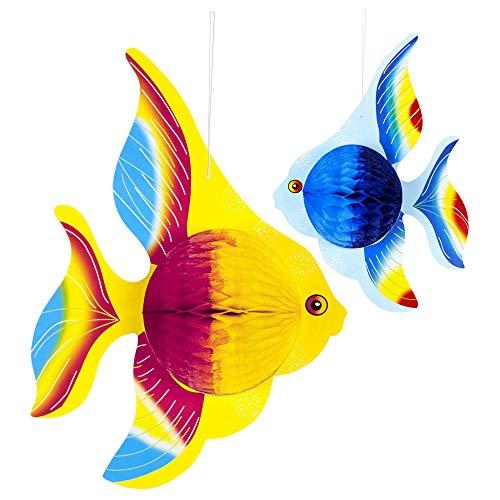 Widmann 95765 Wabenbälle Tropenfisch, Unisex– Erwachsene, Mehrfarbig, Einheitsgröße