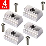 LE KAPMOZ T Slot Nuts for Toyota Tacoma Bed Rails Cleats Bed Rack Rail Accessories for Tunda Pickup Truck Deck Bike Mount W/Stainless Button Socket Cap Screw (4 Packs)