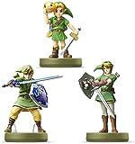 Amiibo link 3 Set (Majora'S Mask, twilight princess, The sky warred sword The legend series of Zelda ) Japanese Ver.