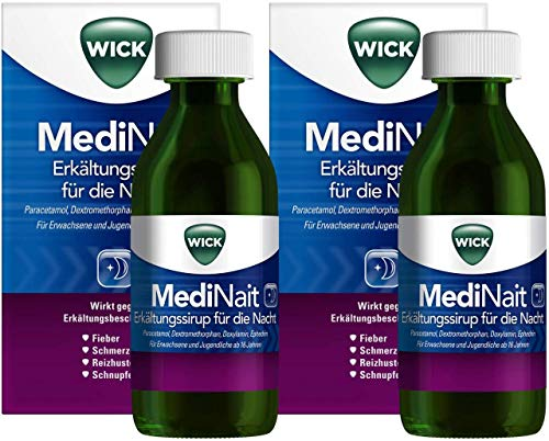 WICK MediNait Erkältungssirup für die Nacht 2 x 180 ml