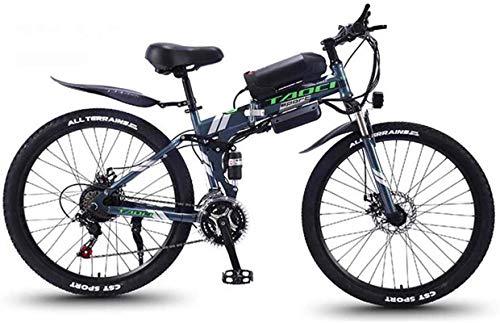 Bicicleta, 26''e-Bicicleta para Adultos Bicicleta de montaña eléctrica con Faros LED y batería de Iones de Litio 36V 13AH 350W MTB para Hombres Mujeres