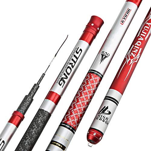 William 337 Fishing Rod 7.2 Meters Carbon Ultra Light Super Hard Fishing Gear per Inviare Regalo a Prova di Esplosione (Size : 5.4m 6Festival)