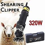 Iglobalbuy 320W Mouton Chèvre Electrique Couper Tondre Chien Grand Cisaille tondeur de Moutons avec étui de Transport