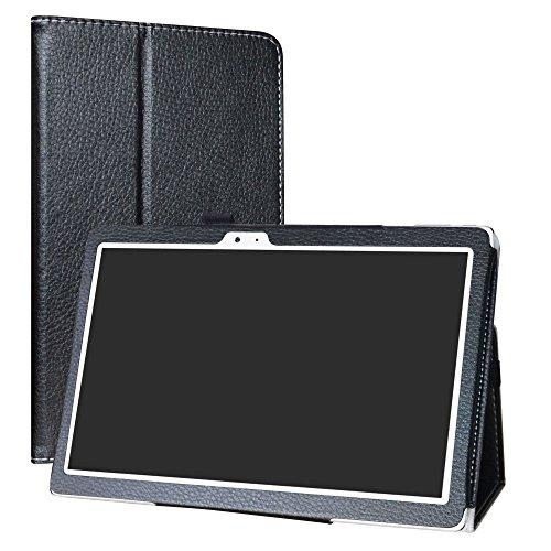 Labanema Funda para CHUWI Hi10 X, Slim Fit Carcasa de Cuero Sintético con Función de Soporte Folio Case Cover para 10.1' CHUWI Hi10 X/Hibook Hi10 Pro/Hibook Hi10 Tablet - Negro