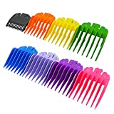 "8 Sets 8 Color Guides Combs for Wahl Hair Clippers/Trimmers combs –8 Cutting Lengths from 1/8""to 1""(3-25mm)– to fits for all Wahl Clippers Ovtel"