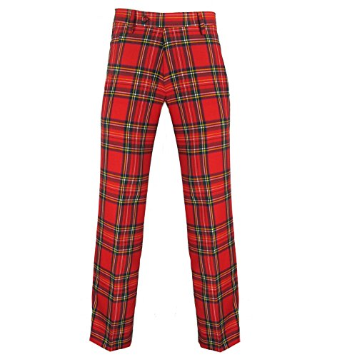 Murray Scottish Golf Trousers n Royal Stewart Red Tartan - 31