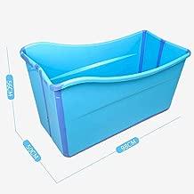 Color : Blue -A /Tragbare Badewanne Haushaltsbadewanne Kunststoff Spa Wannenbad Anti-Rutsch Isolierung Erwachsene Faltbadewanne
