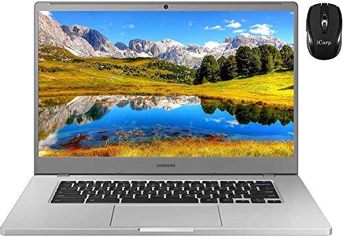 "2020 Latest Samsung Chromebook 4+ 15 Laptop Computer 15.6""FHD 1080P WLED Display Intel Celeron Processor N4000 4GB RAM 32GB eMMC USB-C Bluetooth WebcamChrome OS + iCarp Wireless Mouse"