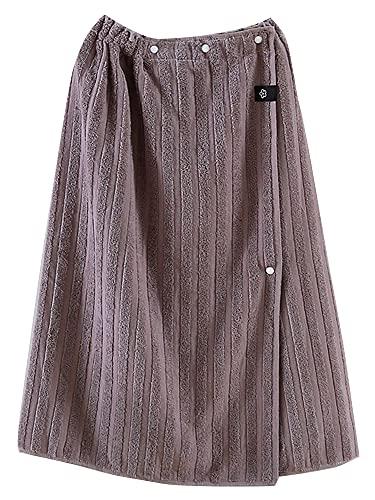 [ネルロッソ] 着る バスタオル レディース バスローブ ラップタオル ルームウェア ワンピース ガウン もこもこ ゆるふわ 正規品 約140cm×約68cm 3 cka241967-Free-3