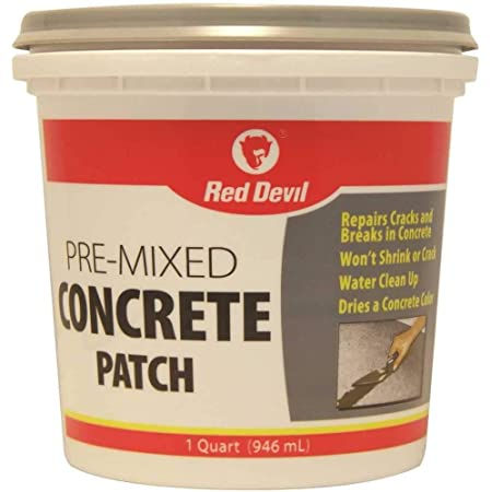 RED DEVIL, INC. 644 0644 Red devil Pre-Mixed Concrete Patch, 1 Qt, Tub, Textured gray, Mild Acrylic, Paste, 1 quart