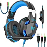 Gaming Headset with Mic for PC,PS4,Xbox One,Over-Ear Headphones with Volume...