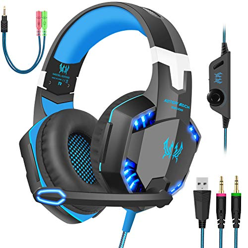 Gaming Headset with Mic for PC,PS4,Xbox One,Over-Ear...
