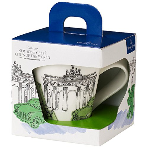 Villeroy & Boch Cities of the World Kaffeebecher Berlin, Premium Porzellan, mehrfarbig grün