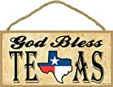 SJT ENTERPRISES, INC. God Bless Texas (Texas Flag in Texas State Outline) 5' x 10' Wood Plaque Sign (SJT13201)