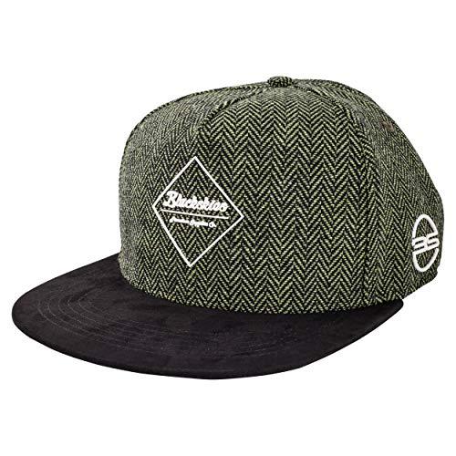 Blackskies Rhea Snapback Cap | Damen Herren Premium Baseball Mütze Kappe Skater Wolle - Grün Schwarz