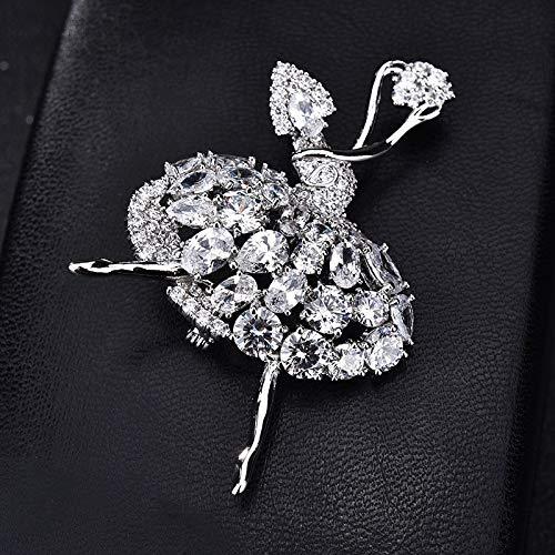 Maria-UK - Broche de circonita para mujer, diseño de ángel y niña, accesorios para bufanda, hebilla decorada (color: 2)