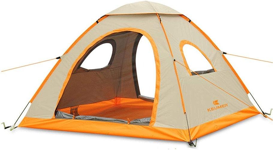 DDSGG Tente De Plage Pop-Up,Tente Anti UV avec Moustiquaire,Abri Portable Extérieur Plage Parc,3-4 Personne Pêche Anti-UV Soleil Abri Tentes