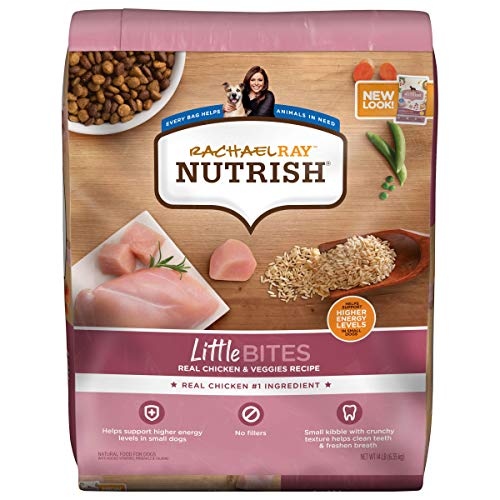 Rachael Ray Nutrish Little Bites Small Breed Premium Natural Dry Dog Food, Real Chicken & Veggies Recipe, 14 Pounds (Packaging May Vary)