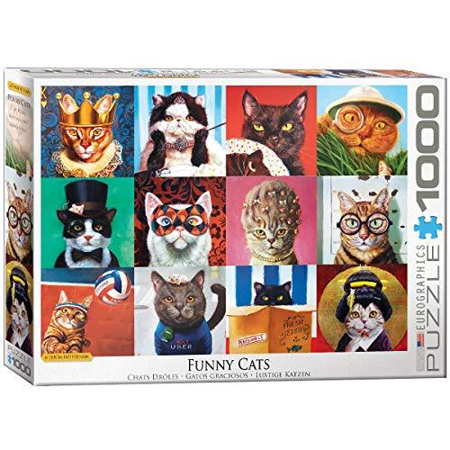 EuroGraphics Puzzle 1000 pièces : Chats drôles