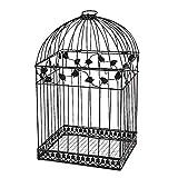 BLACK BIRDCAGE CARD HOLDER - Home Decor - 1 Piece