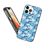 Compatible con iPhone 12 Pro Max Case Cure Seamless Floral Pattern Vector Ilustración en Blue Protective Shockproof Cover with Soft TPU Bumper and Hard PC Back (6.7 inch)