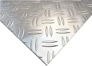 Chapa gofrada de aluminio - Placa estriada de doble barra -